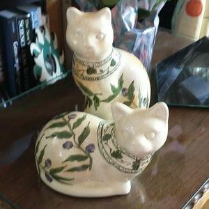 Vintage Mantle Cat Set